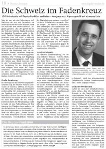 Artikel: «Die Schweiz im Fadenkreuz» in DIGITAL INSIDER 2012/11