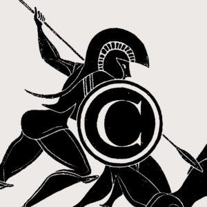Bild: «The Battle of Copyright» im Stil einer griechisch-antiken Malerei