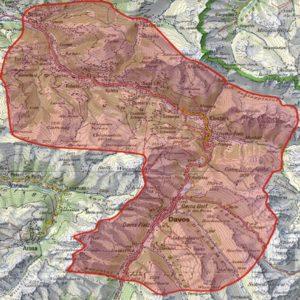 Karte: Flugverbotszone für Drohnen rund um das World Economic Forum (WEF) in Davos
