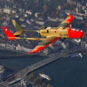 Foto: ADS 95-Drohne der Schweizer Luftwaffe über der Stadt Luzern