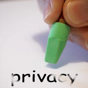 Bild: Wort «Privacy», das ausradiert wird