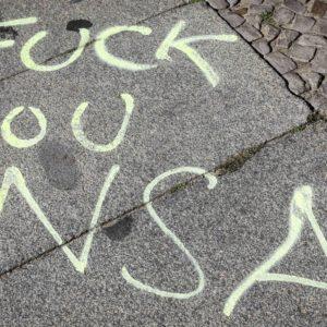Foto: Graffiti «Fuck You NSA»