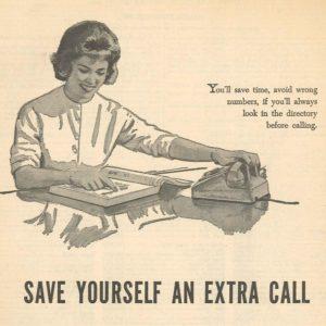 Foto: Inserat zur Telefonbuch-Nutzung (1962)