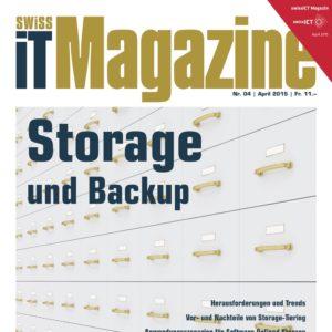 Bild: Titelseite von Swiss IT Magazine-Ausgabe 2015/04