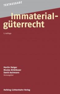 Bild: Cover der fünften Auflage der Textausgabe Immaterialgüterrecht