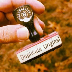 Foto: Stempel «Duplicate Original»
