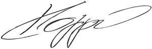 Bild: Unterschrift von Fussballtrainer Jürgen Klopp