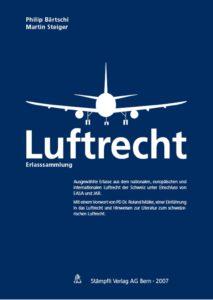 Titelseite: Erlasssammlung Luftrecht