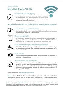 Merkblatt: Public WLAN