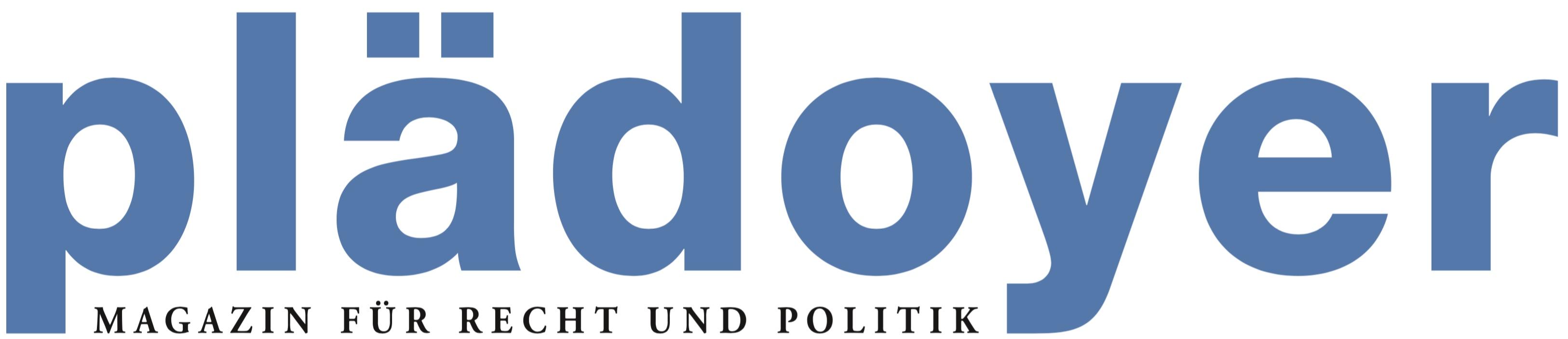 Logo: «Plädoyer» (Zeitschrift)