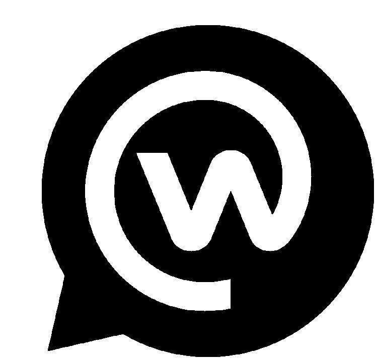 Logo: «Workspace» (von Facebook, «W» in Sprechblase)