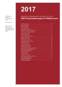 Titelseite: SAB-Preisempfehlungen 2017