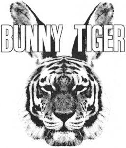 Wort-Bild-Marke: BUNNY TIGER (Tigerkopf mit Hasenohren sowie den Wörtern BUNNY und TIGER in Grossbuchstaben (in Graustufen)