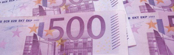 Foto: 500 Euro-Noten