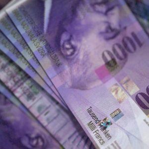 Foto: 1'000 Franken-Noten (Schweizer Franken)