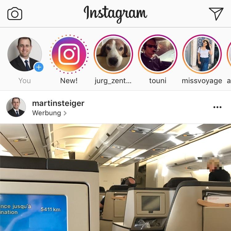 Screenshot: Instagram-Beitrag mit Ortsangabe «Werbung»