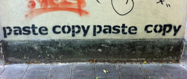 Foto: Graffiti «paste copy paste copy»