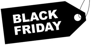 Bild: Preisschild mit Beschriftung «BLACK FRIDAY»
