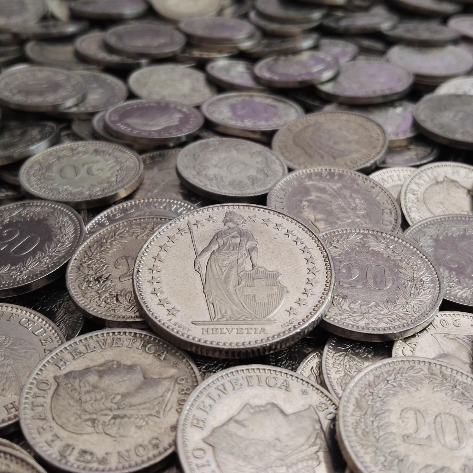 Foto: Schweizer Franken-Münzen