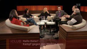 SRF: Screenshot vom«Club» im Schweizer Radio und Fernsehen (SRF) am 13. Februar 2018