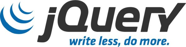 Logo: jQuery (mit Slogan «write less, do more»)