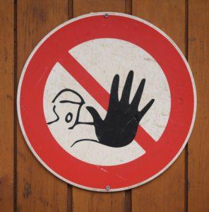 Foto: Warnschild (mit Hand)