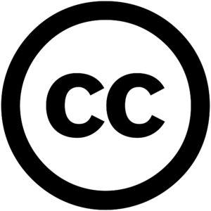 Logo: Creative Commons («CC» in einem Kreis, als Anspielung auf ©)