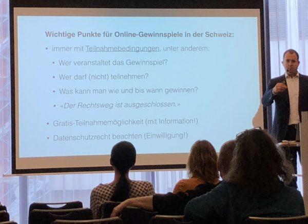 Foto: Vortrag von Rechtsanwalt Martin Steiger am Swiss Blog Family-Kongress 2018