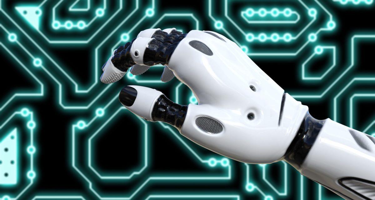Bild: Weisse Roboter-Hand