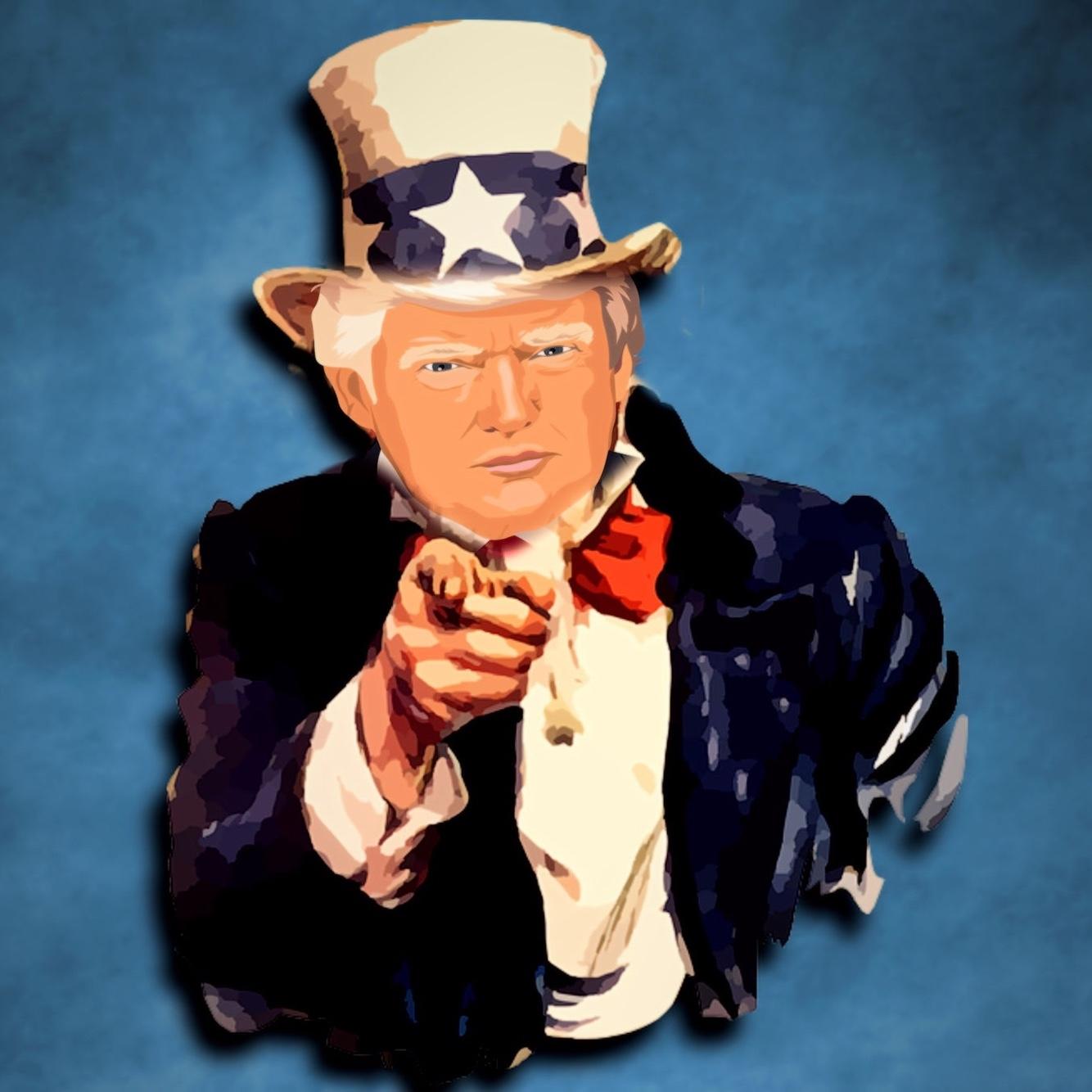 Bild: Amerikanischer Präsident Donald Trump als Uncle Sam