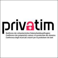 Logo: privatim – Konferenz der schweizerischen Datenschutzbeauftragten