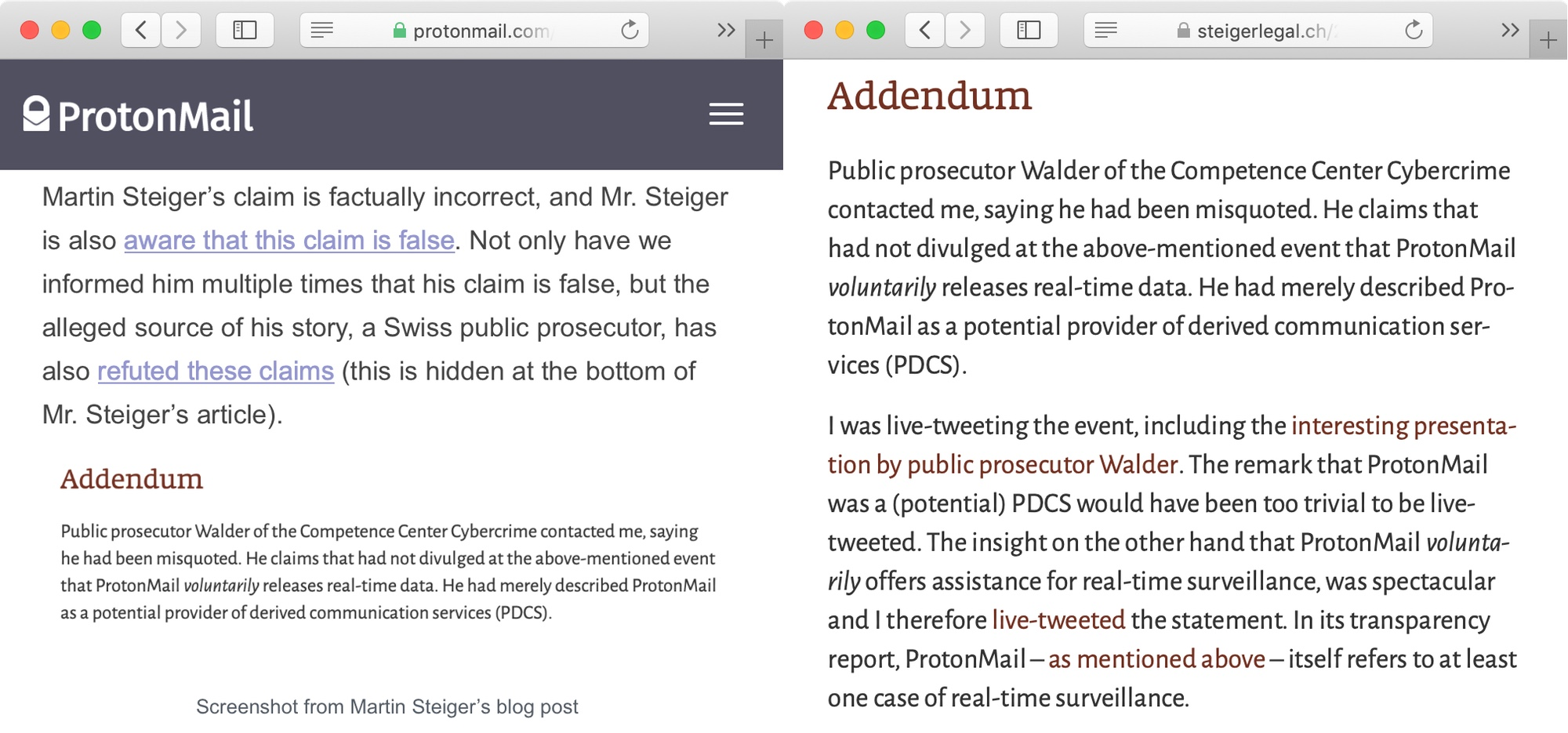 ProtonMail bietet freiwillig Hand für Echtzeit-Überwachungen