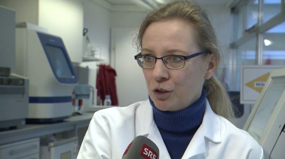 Screenshot: Dr. Silvia Utz im Interview mit dem Schweizer Radio und Fernsehen (SRF)