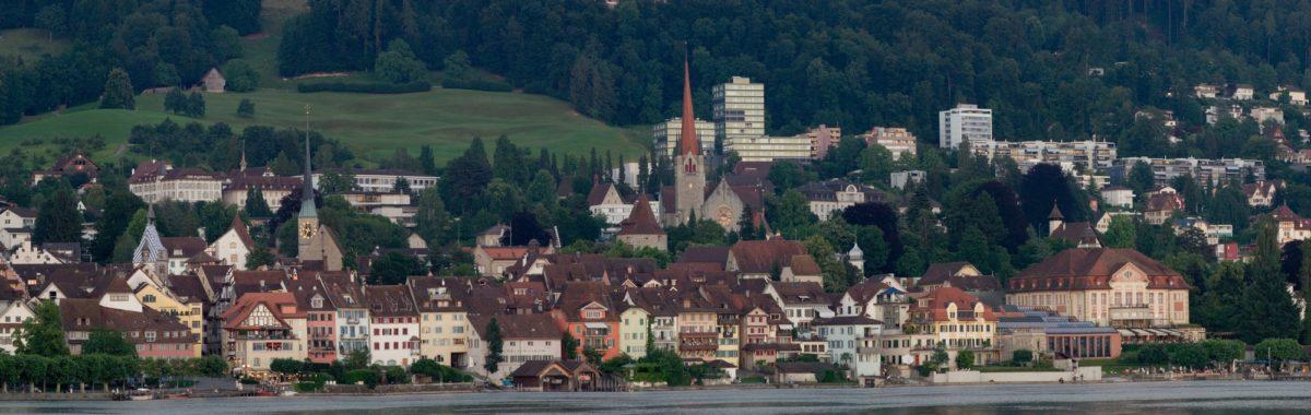 Foto: Panorama der Altstadt von Zug