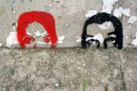 Foto: Graffiti an der ehemaligen Berliner Mauer