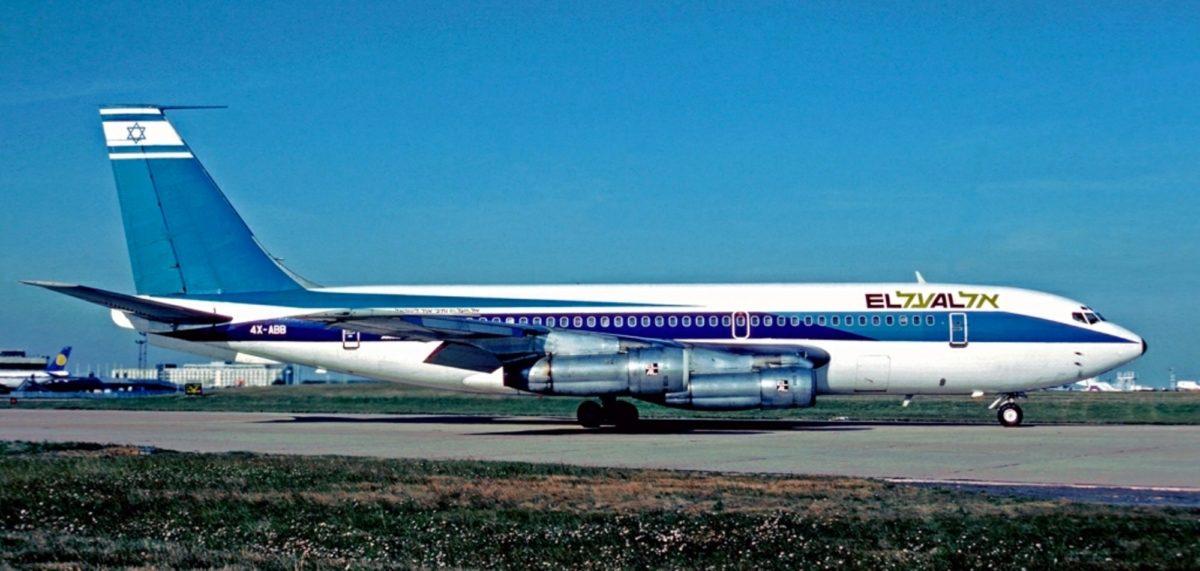 Foto: Boeing 720 der Fluggesellschaft El Al, die in das Attentat von Kloten (1969) verwickelt war