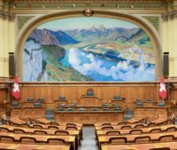 Foto: Nationalratssaal im Bundeshaus in Bern