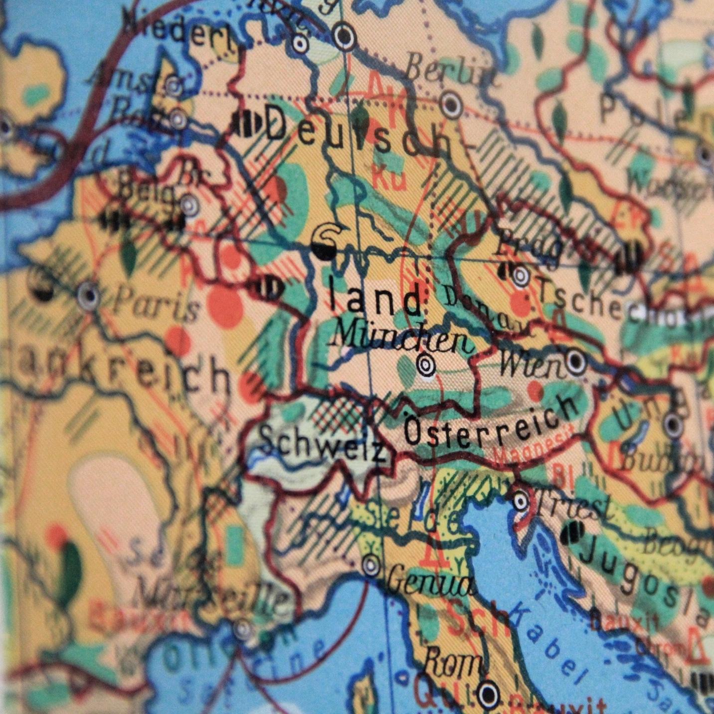 Landkarte: Mitteleuropa