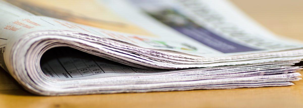 Foto: Gefaltete Zeitung