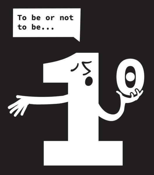 Comic: «To be or not to be …» (1 oder 0)