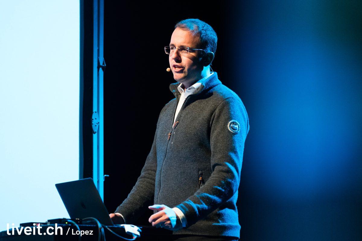 Foto: Rechtsanwalt Martin Steiger am Winterkongress 2020 der Digitalen Gesellschaft