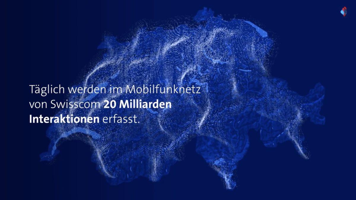 Bild: «20 Milliarden Interaktionen» (Auszug aus Werbefilm für Swisscom Insights)