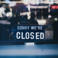 Foto: Schild «SORRY WE'RE CLOSED»