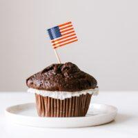 Foto: Cupcake mit amerikanischer Flagge