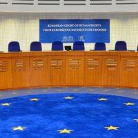 Bild: Gerichtssaal am Europäischen Gerichtshof für Menschenrechte (EGMR)