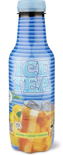 Foto: Bedruckte «Ice Tea»-Flasche der Migros