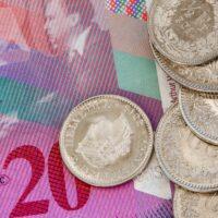Foto: Schweizer Franken (20er-Note und Münzen)