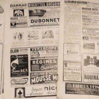 Foto: Alte Zeitung mit Werbung